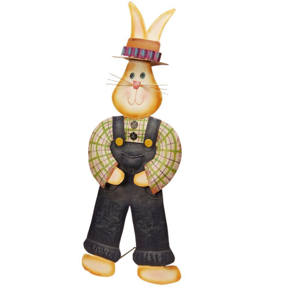 28 in. Garden Accents Metal Rabbit Decoration