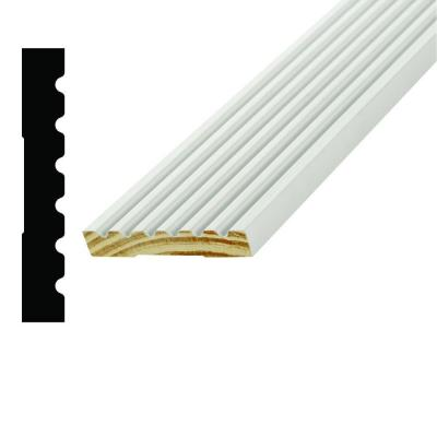 AMH 285 9/16 in. x 3-1/2 in. x 96 in. Pine Primed Finger-Jointed Casing Moulding