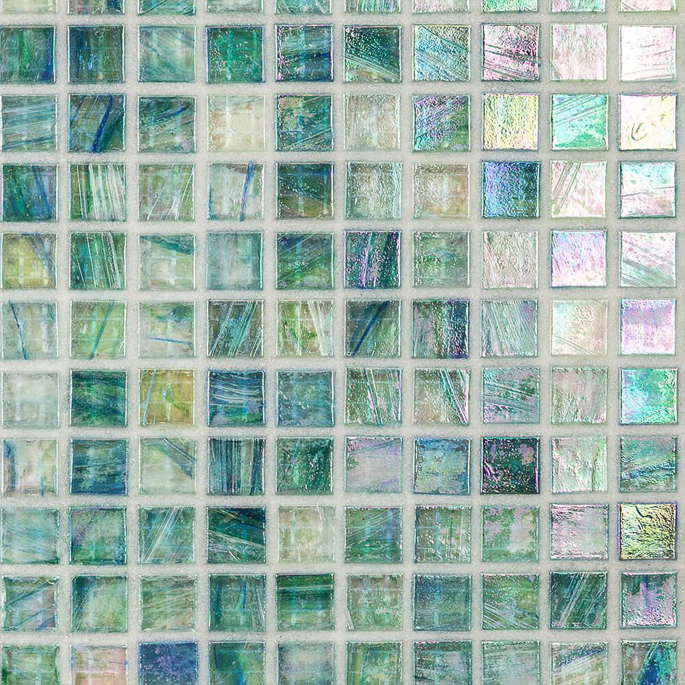 Breeze Caribbean Ocean 12-3/4 in. x 12-3/4 in. x 6 mm Glass Mosaic Tile