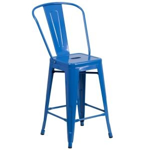 24.25 in. Blue Bar Stool