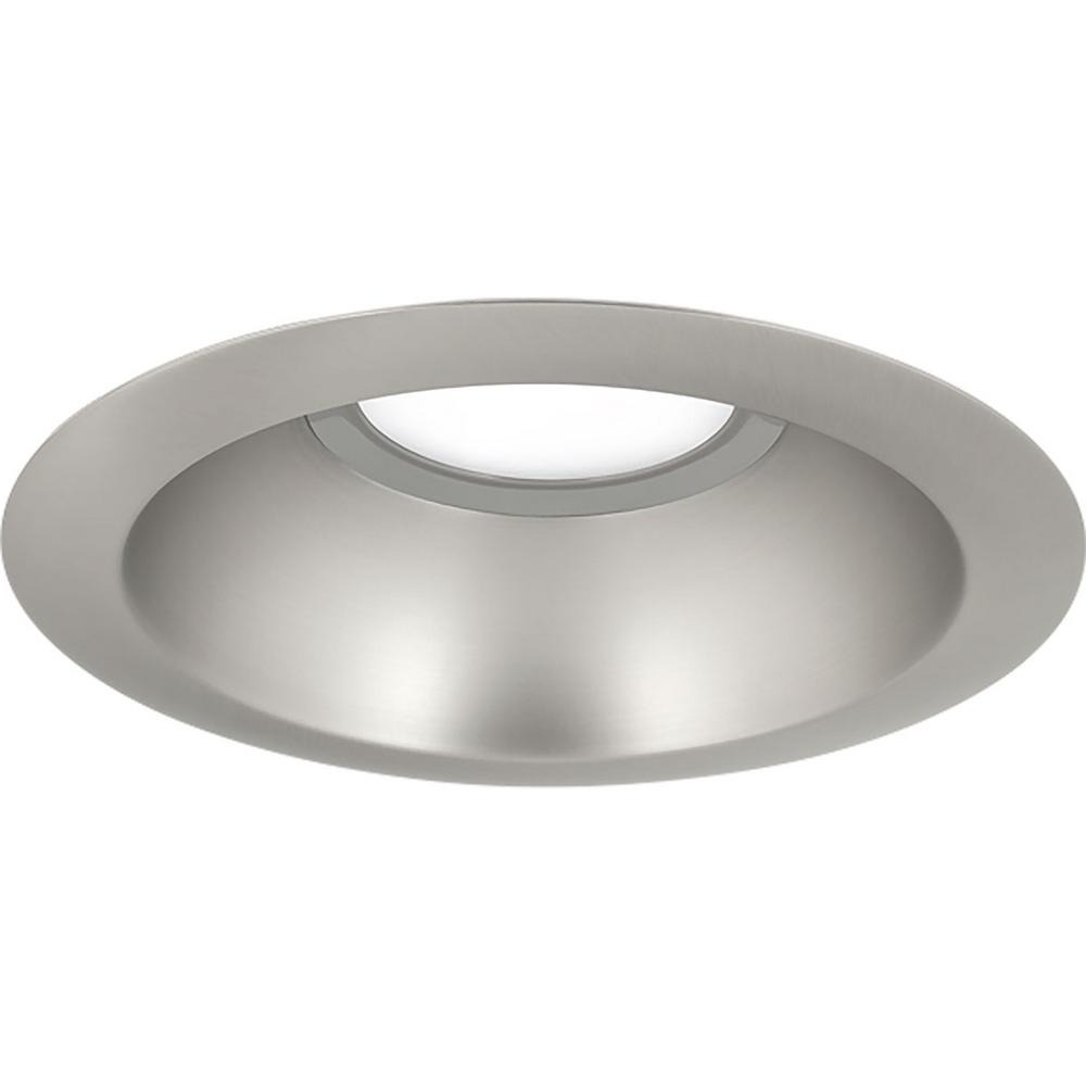 Progress Lighting 6 In Brushed Nickel Integrated Led Recessed Trim