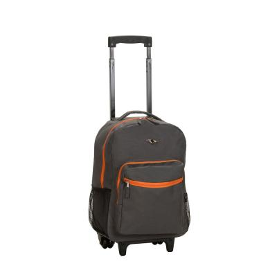 Rockland Roadster 17 in. Rolling Backpack, Charcoal