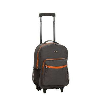 17 in. Charcoal Rolling Backpack