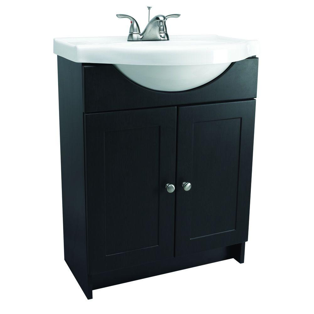 Euro Style Vanity In Espresso With Cultured Marble Belly Bowl Sink Bowls On Top Of Vanity A80