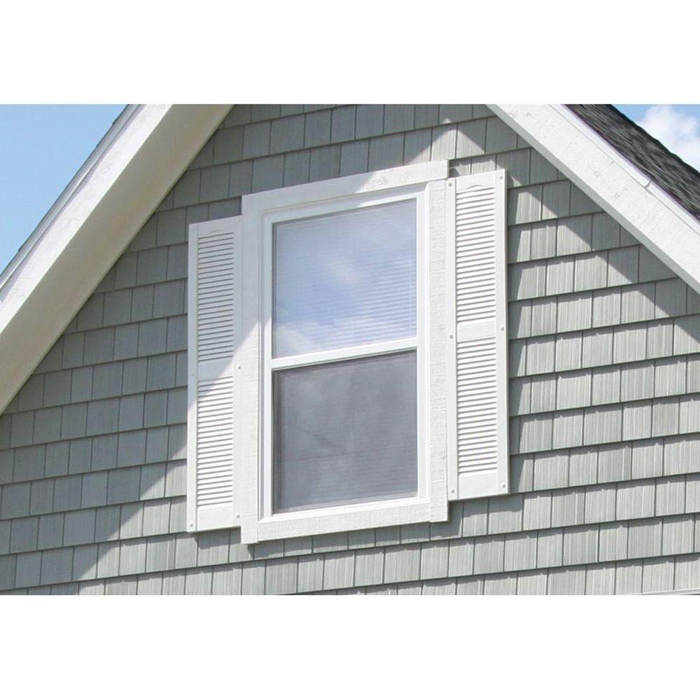 Per Pair Tuxedo Grey 018 12W x 55H Builders Edge  Shutters