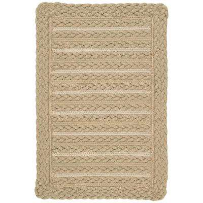 Boathouse Beige 2 ft. 3 in. x 4 ft. Cross Sewn Area Rug