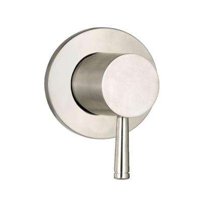 Serin 1-Handle On/Off Volume Control Valve Trim Kit in Brushed Nickel (Valve Sold Separately)