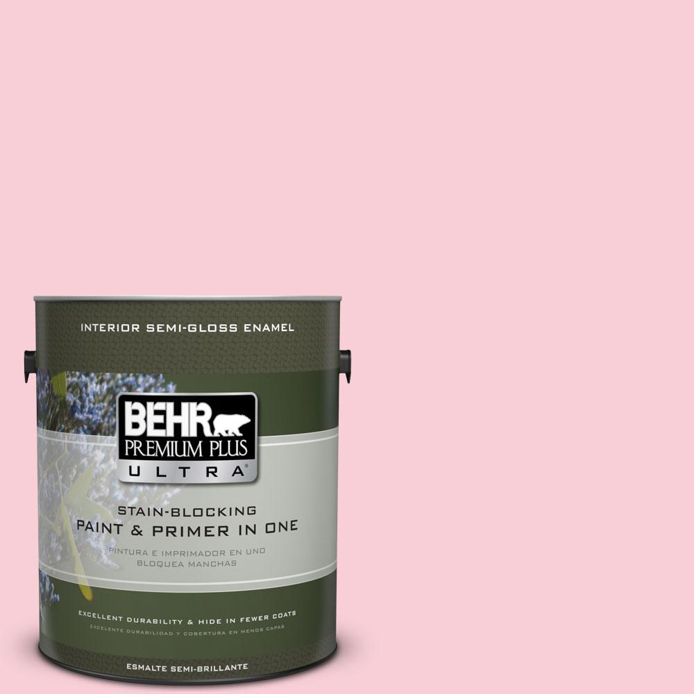 BEHR Premium Plus Ultra 1-gal. #130A-2 Fading Rose Semi-Gloss Enamel Interior Paint