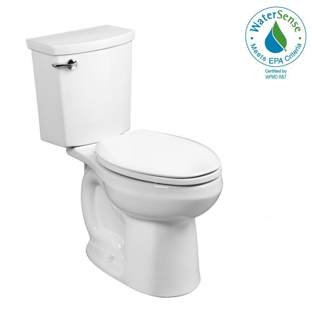 H2Optimum Right Height 2-piece 1.1 GPF Single Flush Elongated Toilet in White