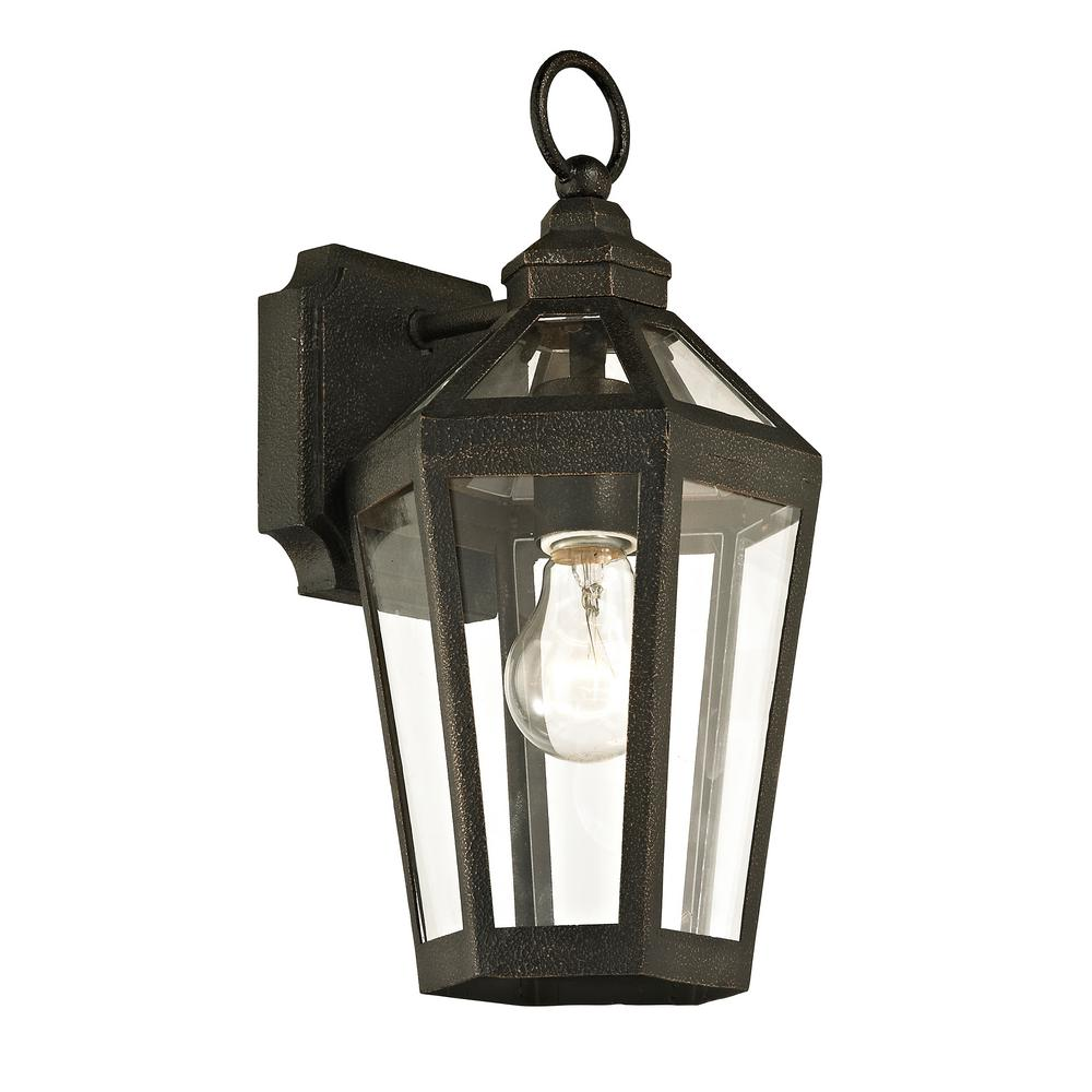 Calabasas 1-Light Vintage Bronze 13.5 in. H Outdoor Wall Mount Sconce