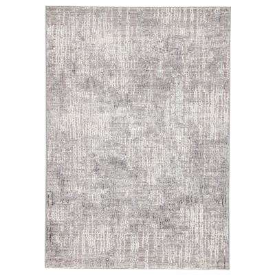 Tresca Light Gray 8 ft. 10 In. x 12 ft. Abstract Rectangle Rug