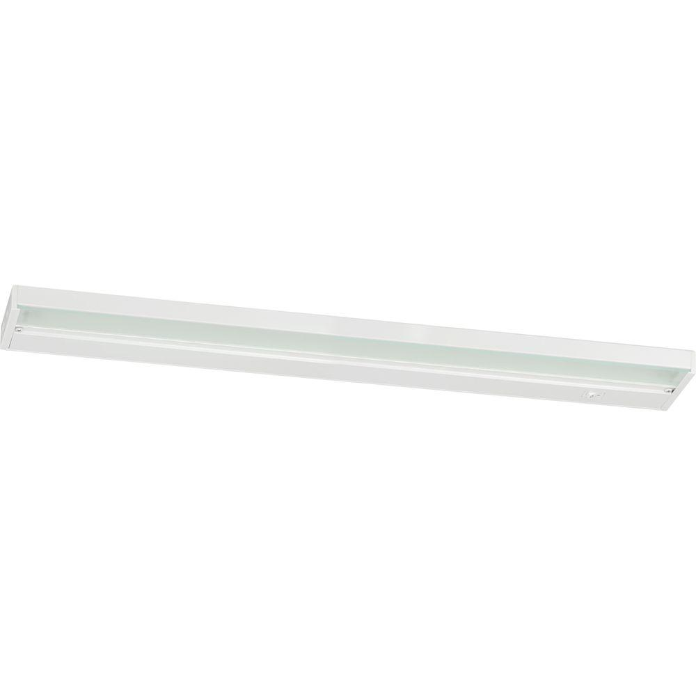 led under cabinet lighting progress lighting 24 in white led cabinet light 22604