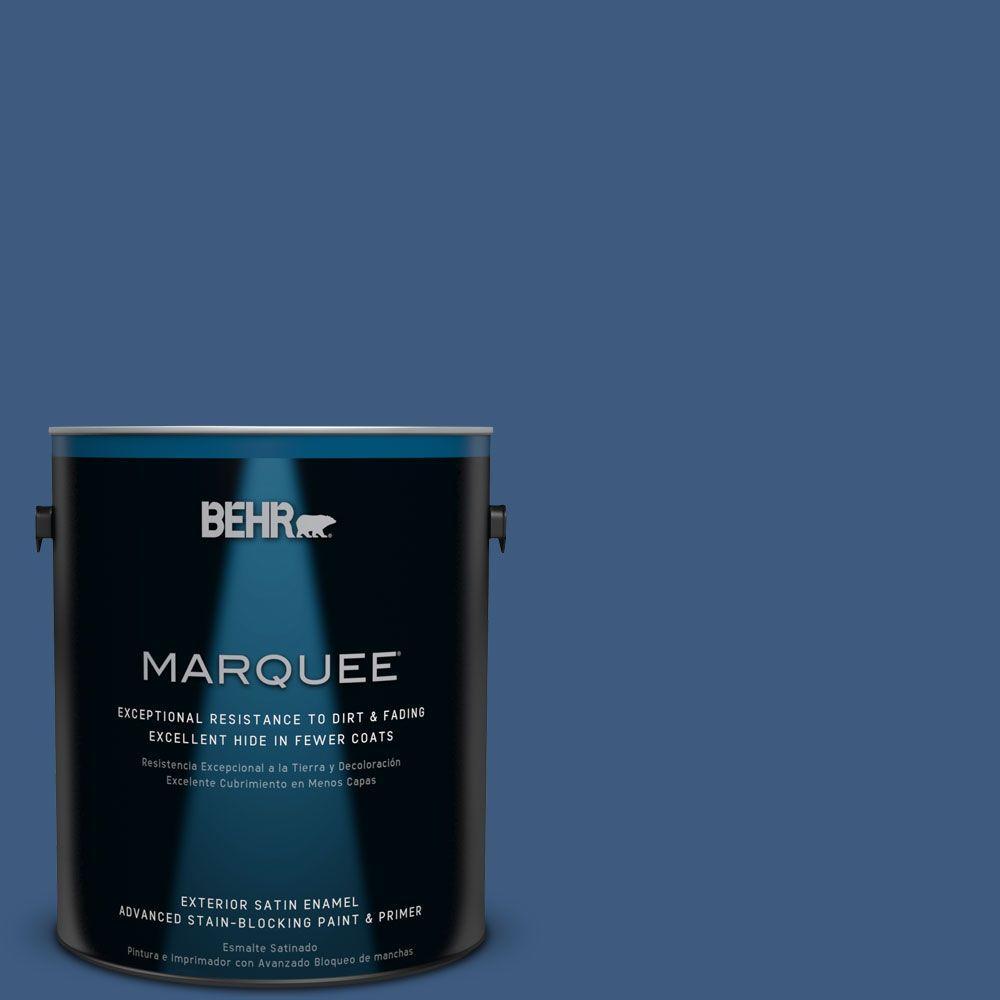 1-gal. #M520-7 Admiral Blue Satin Enamel Exterior Paint