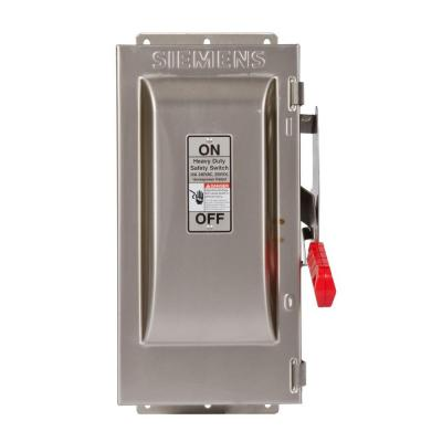 Heavy Duty 30 Amp 240-Volt 3-Pole Type 4X Fusible Safety Switch