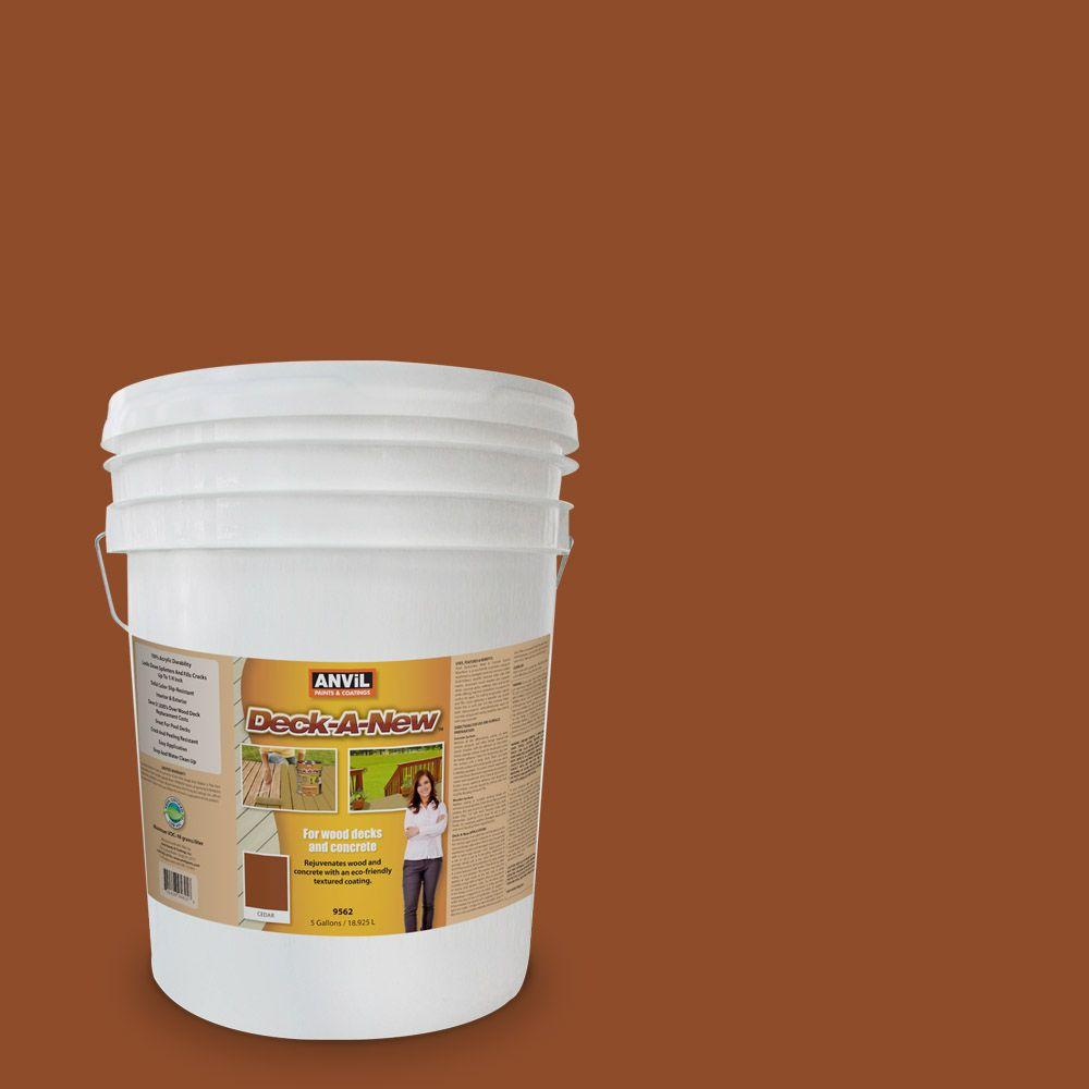 ANViL Deck-A-New 5-gal. Cedar Rejuvenates Wood and Concrete Decks Premium Textured Resurfacer