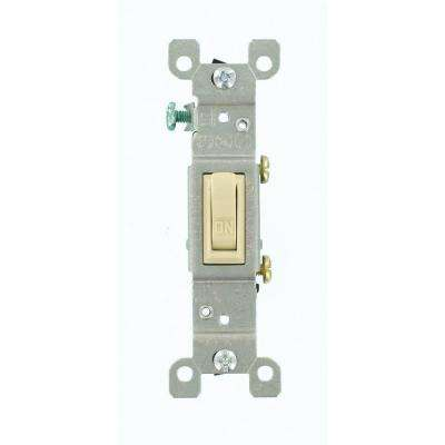 15 Amp Single-Pole Toggle Switch, Ivory
