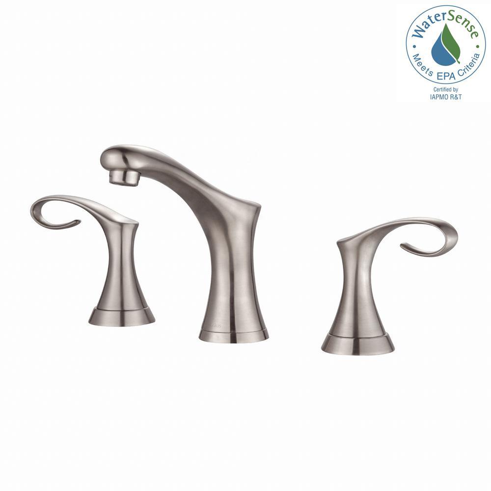 KRAUS KRAUS Cirrus 8 in. Widespread 2-Handle Bathroom Faucet in Brushed Nickel