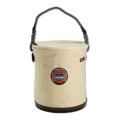Arsenal 12.5 in. Tool Bucket with Top, White Canvas