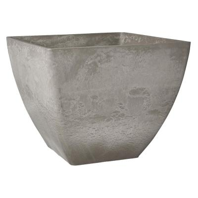Simplicity Square 16 in. x 16 in. x 13 in. Cement PSW Pot