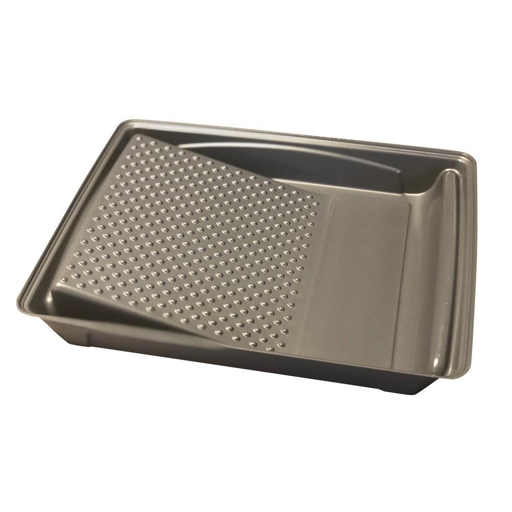 9 in. Plastic Gray Roller Tray