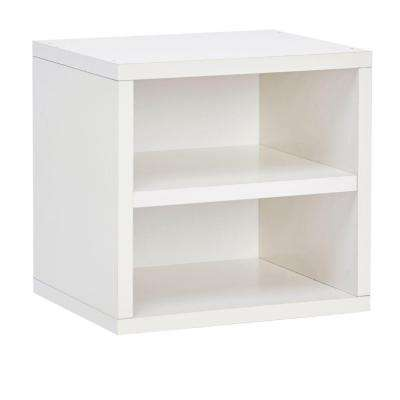 Connect System 11.2 X 13.4 X 13.4 ZBoard Stackable Storage Cube Organizer  Unit With Shelf In
