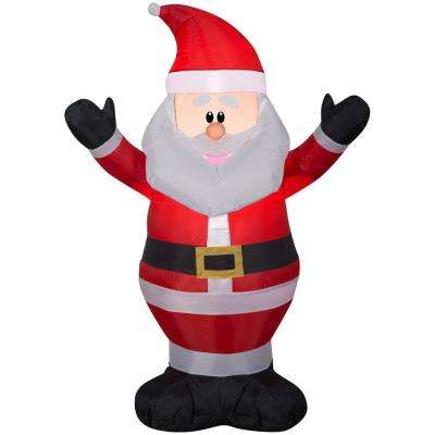 3.5 ft. Pre-Lit Airblown Inflatable Santa