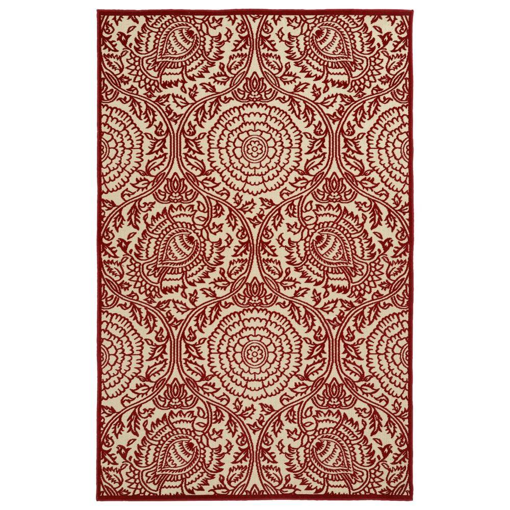 Kaleen Five Seasons Red 9 ft. x 12 ft. Indoor/Outdoor Area Rug
