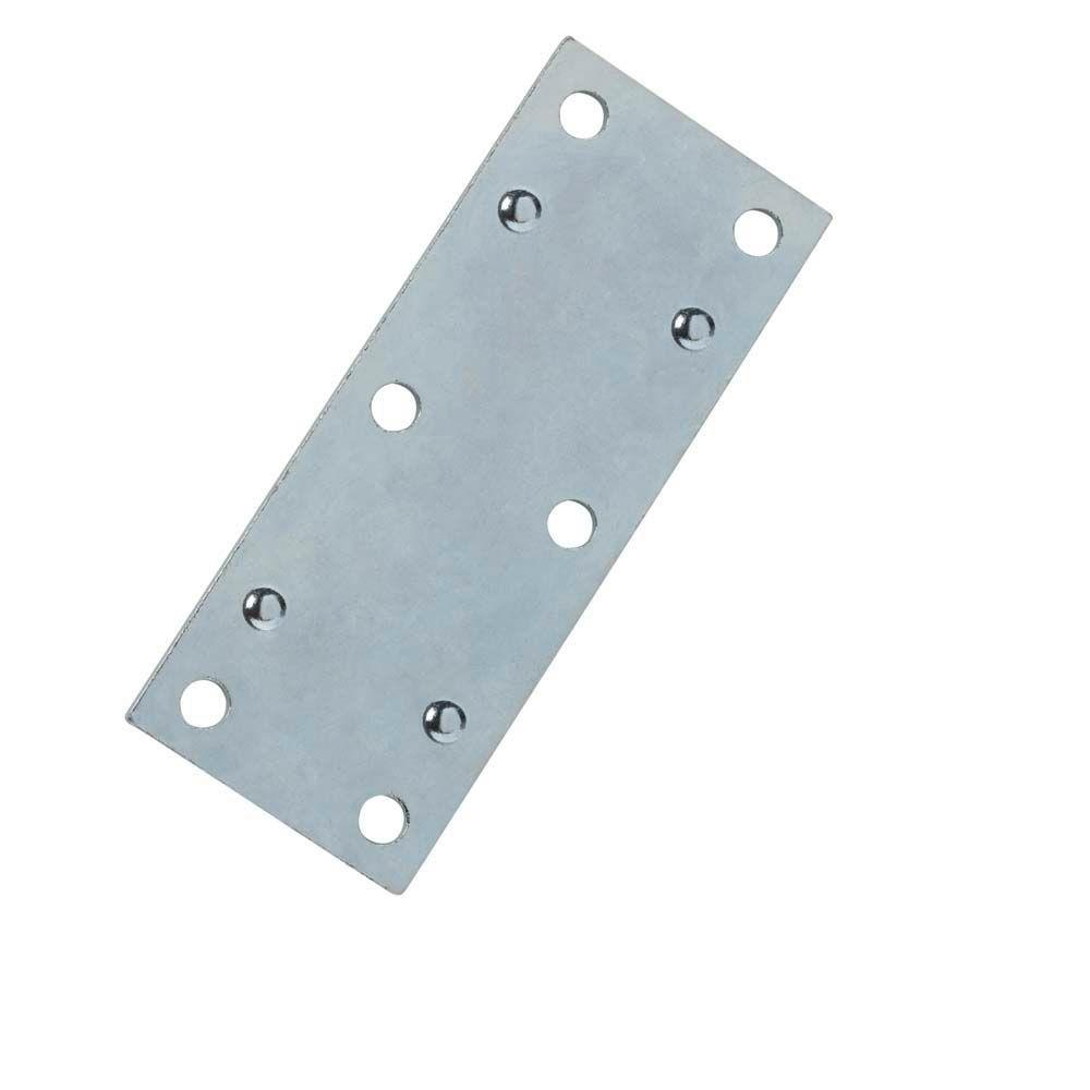 Everbilt 3-1/2 in. Steel Zinc-Plated Double-Wide Mending Plate (4-Pack)