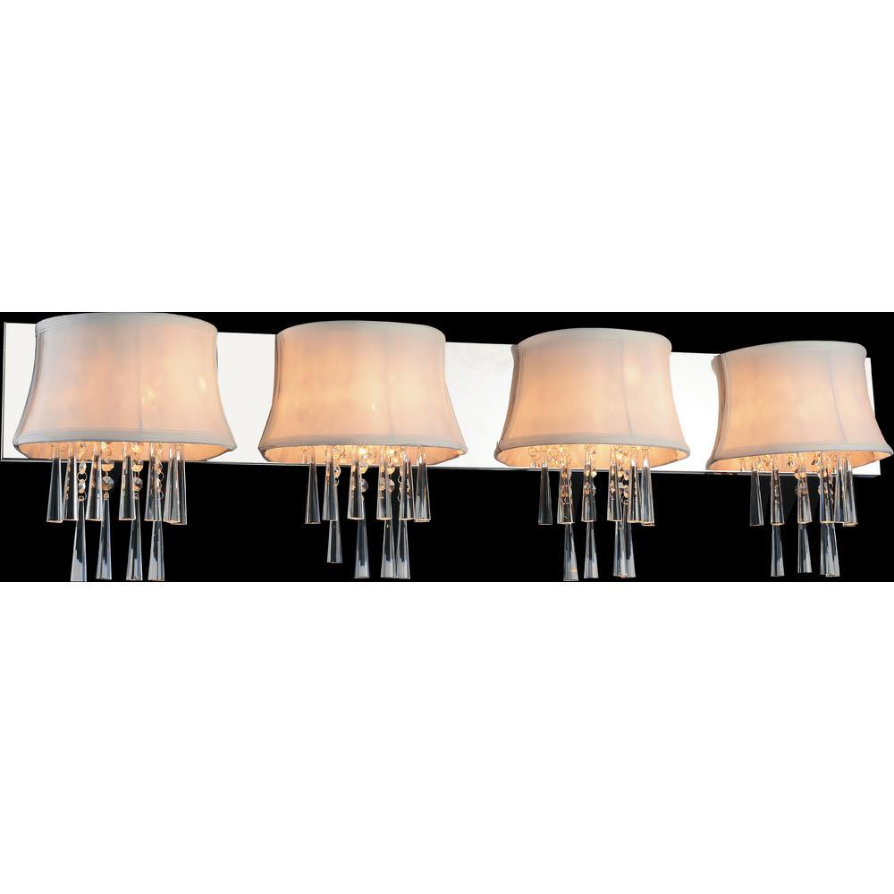 CWI Lighting Audrey 4-Light Chrome Sconce
