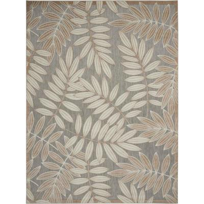 Aloha Natural 9 ft. 6 in. x 13 ft. Indoor/Outdoor Area Rug
