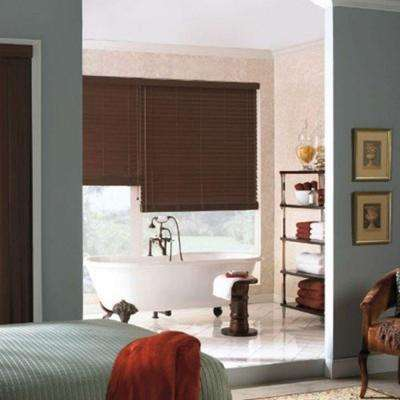 Black Faux Wood Blinds Blinds The Home Depot