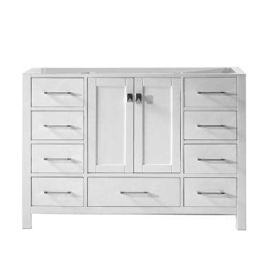 Caroline Avenue 48 in. W Bath Vanity Cabinet Only in White