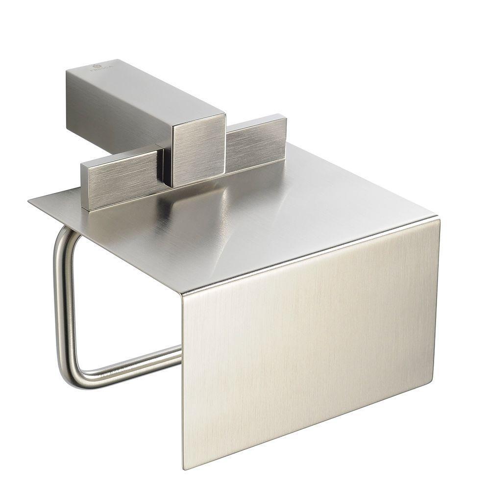 Fresca Ellite Single Post Toilet Paper Holder in Brushed Nickel