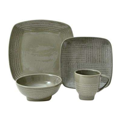 Forge 16-Piece Taupe Dinnerware Set