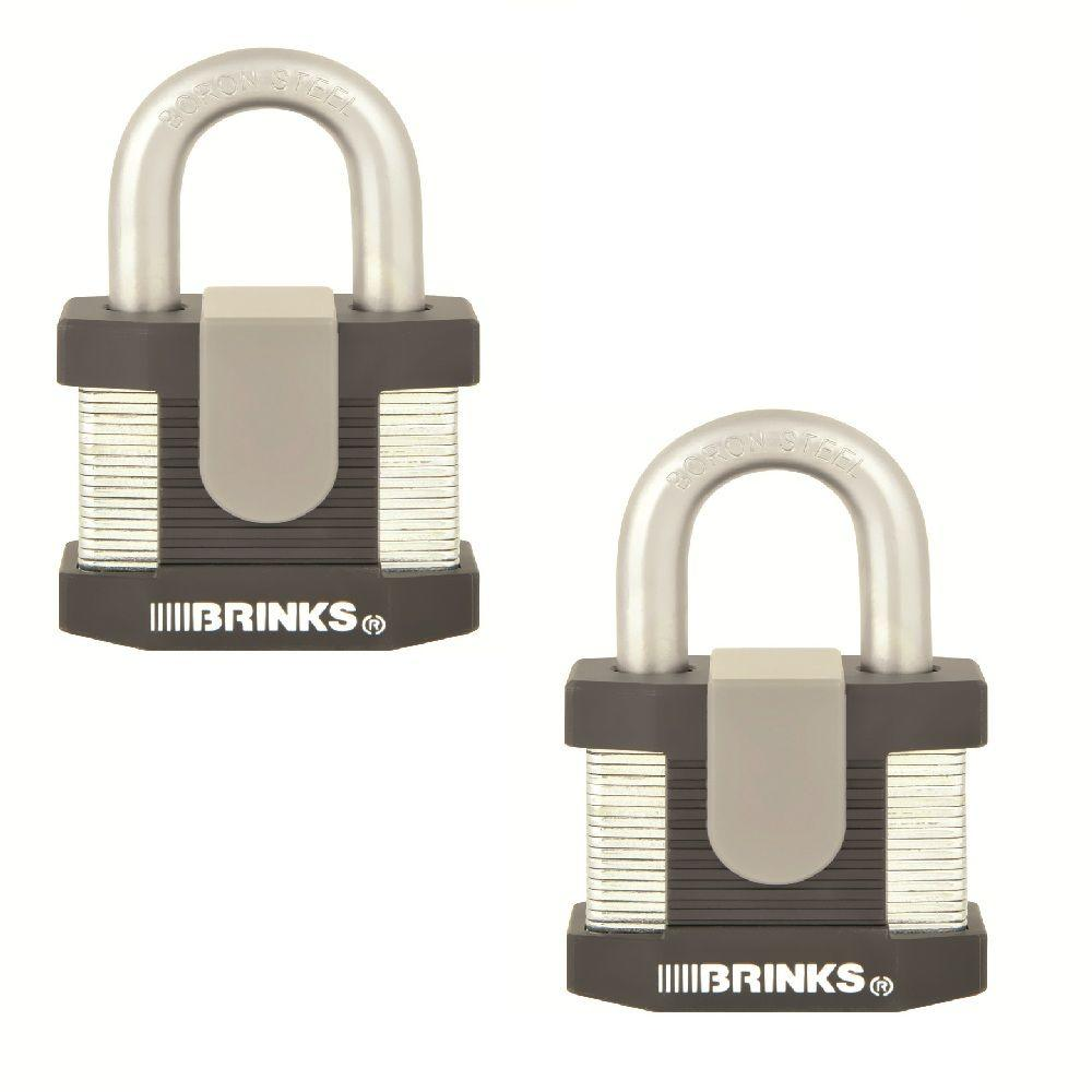 2 in. Commercial Laminated Steel Keyed Padlock (2-Pack)
