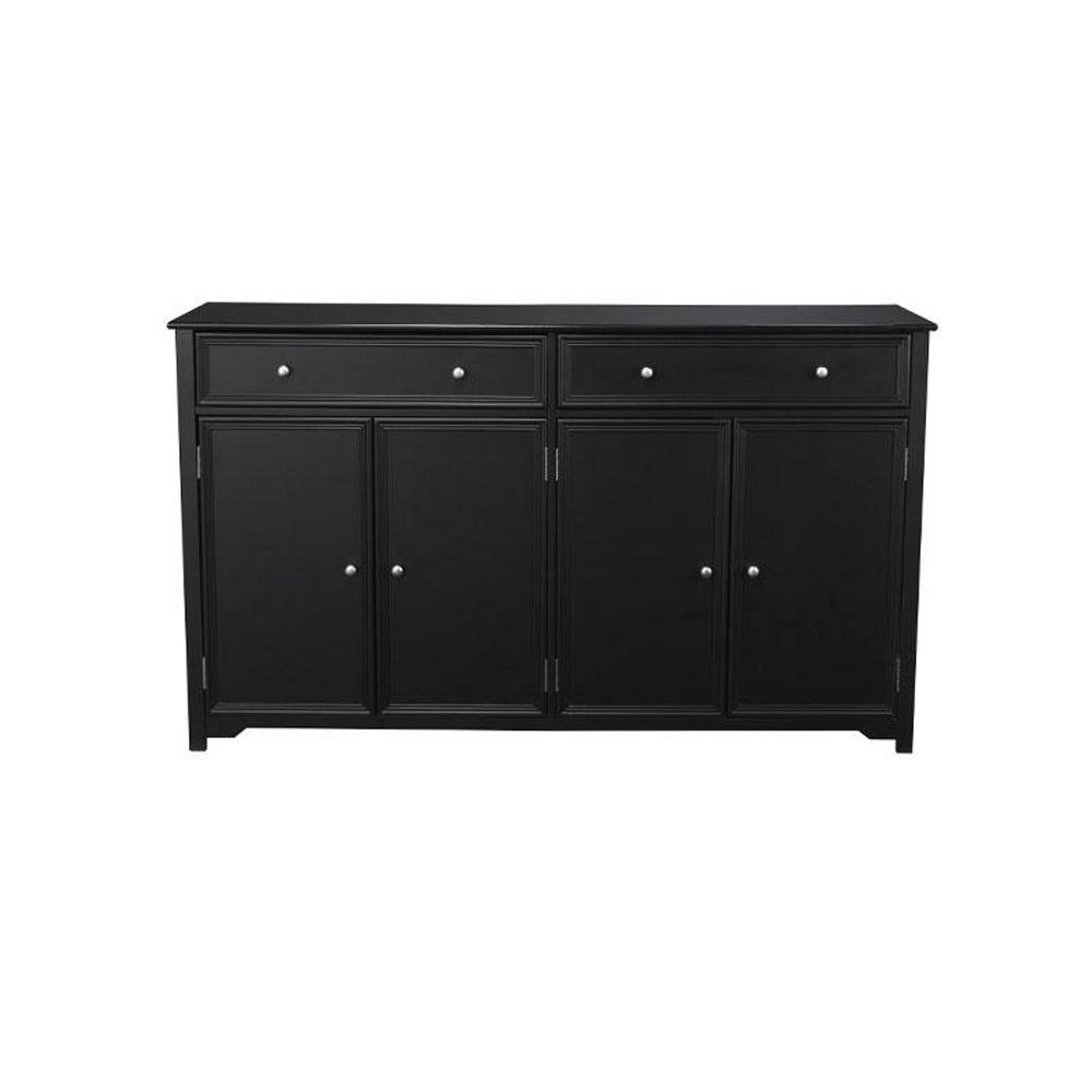 Home decorators collection oxford black buffet 0829500910 for Home depot home decorators
