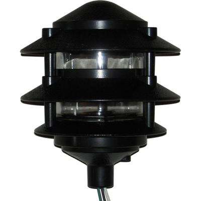 Weatherproof 3 Tier Path Light - Black