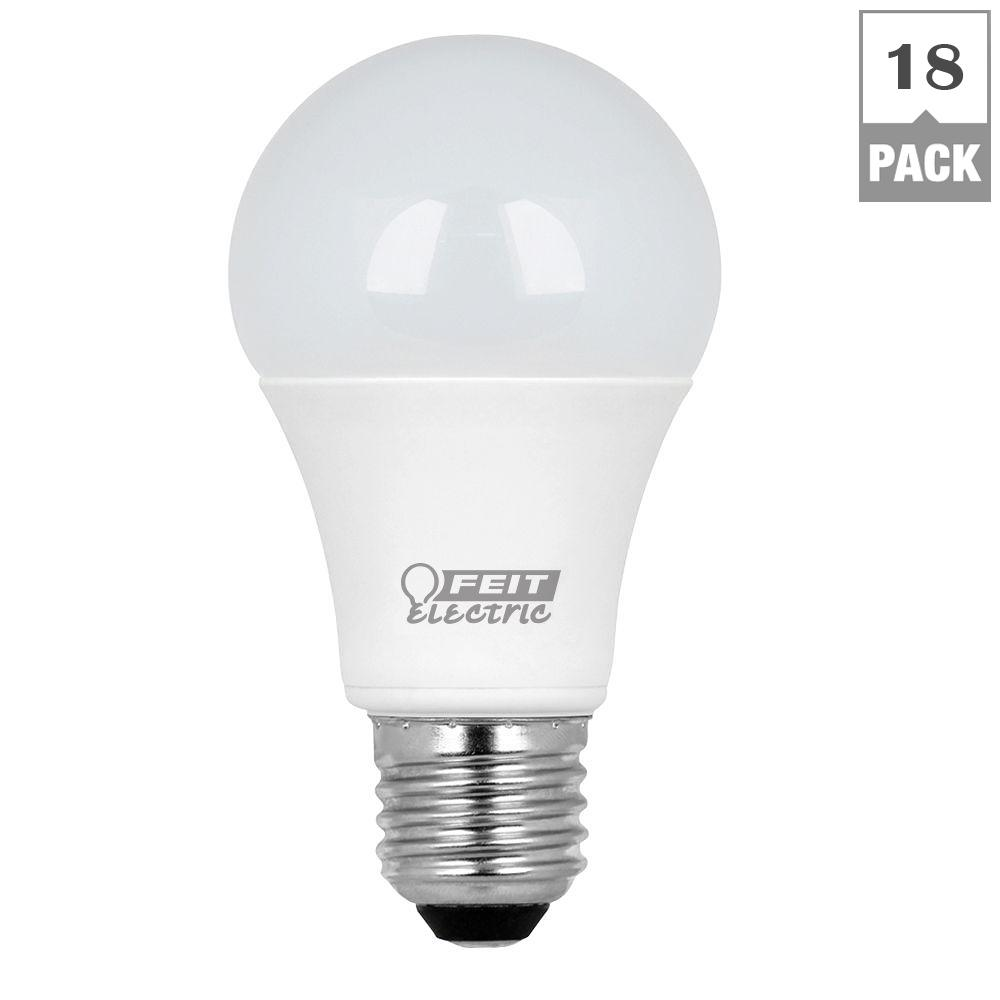 Feit Electric 40W Equivalent Warm White (3000K) A19 LED Light Bulb (Case of 18)