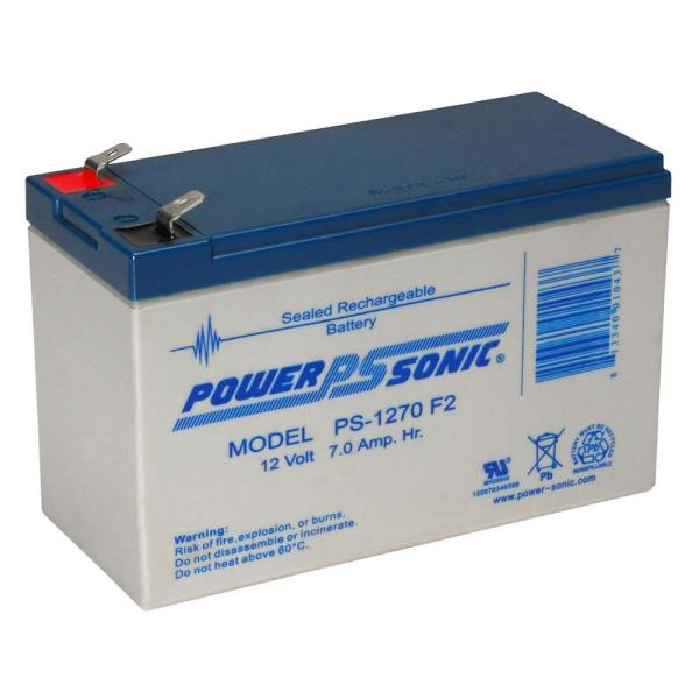 12-Volt 7 Ah 0.250 F2 Terminal Sealed Lead Acid (SLA) Rechargeable Battery