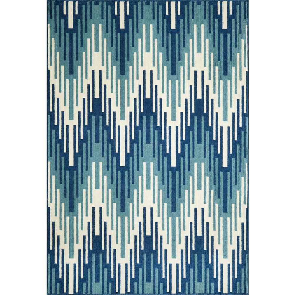 Momeni Baja Blue 3 ft. 11 in. x 5 ft. 7 in. Indoor/Outdoor Area Rug