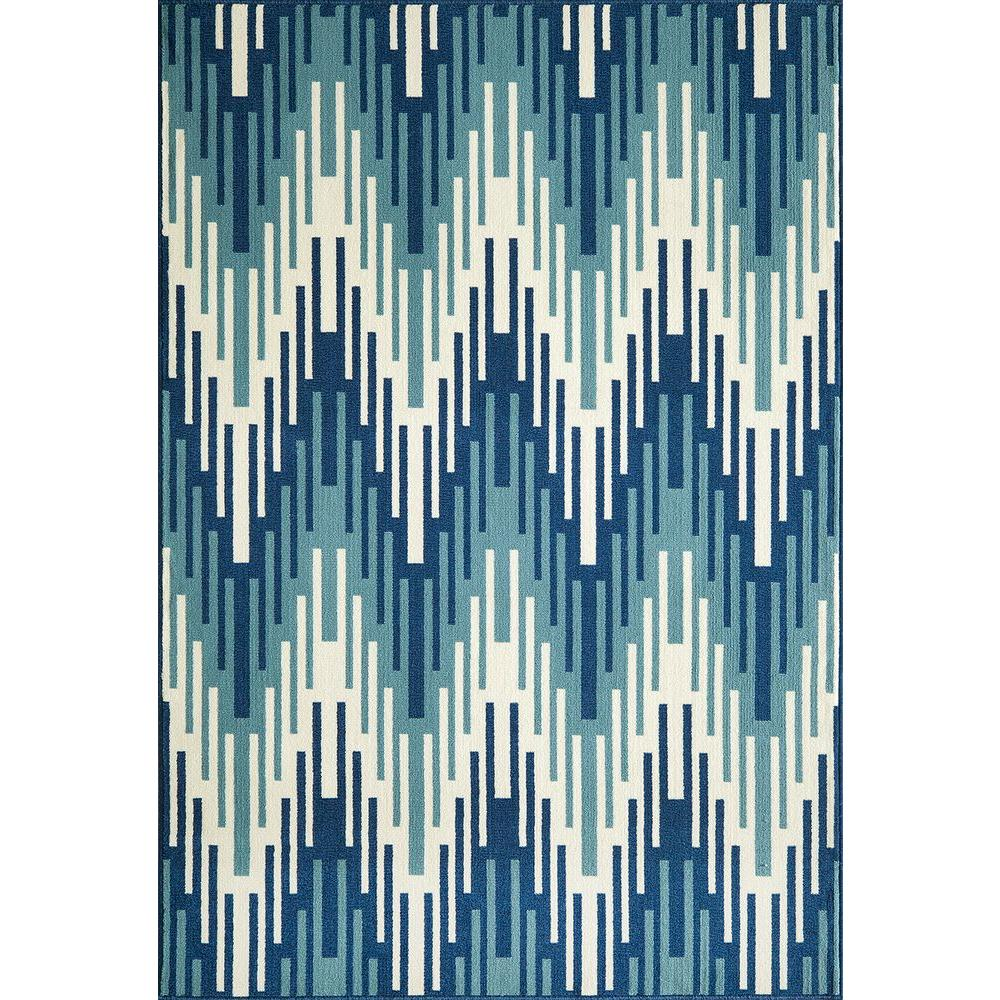 Momeni Baja Blue 8 ft. 6 in. x 13 ft. Indoor/Outdoor Area Rug