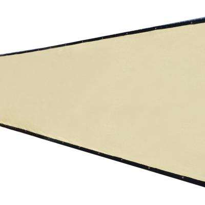 68 in. x 25 ft. Beige Privacy Fence Screen Plastic Netting Mesh Fabric Cover with Reinforced Grommets for Garden Fence