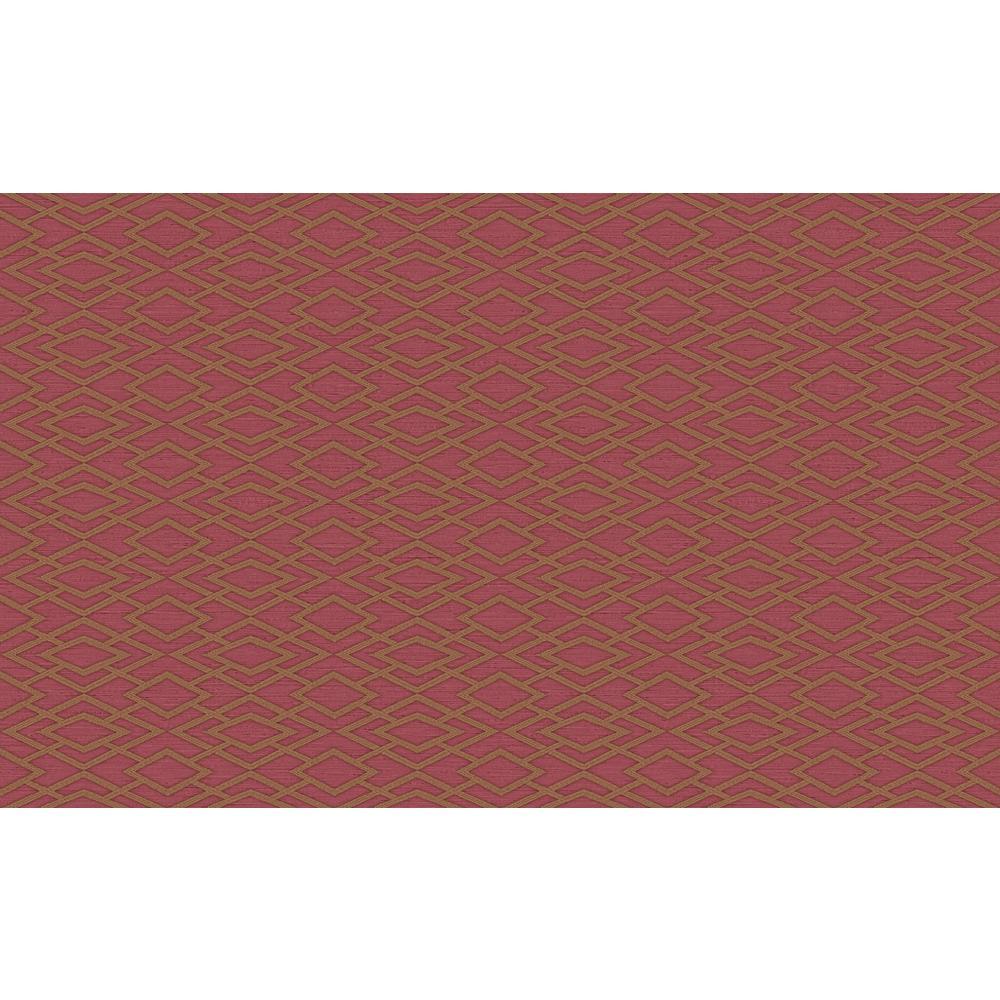Divine Red Geometric Silk Wallpaper