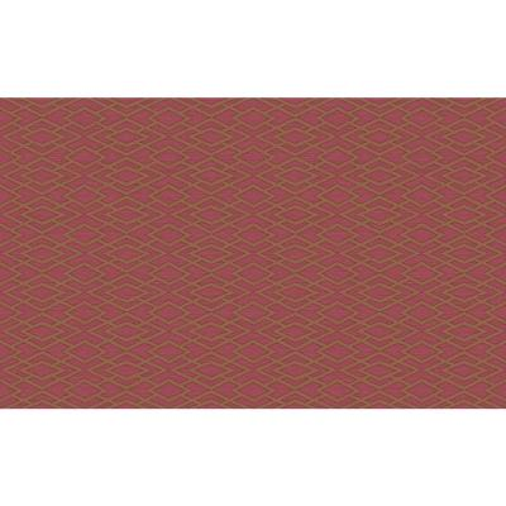 Divine Red Geometric Silk Wallpaper Sample