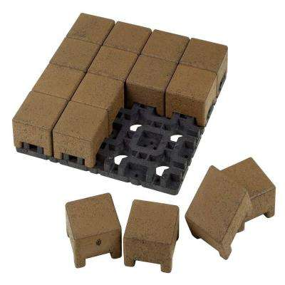 4 in. x 4 in. Olive Composite Standard Paver Grid System (16 Pavers and 1 Grid)