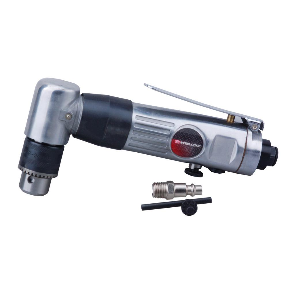 "Steel-Core 3/8 "" 1500 RPM Reversible Air Pneumatic Angle Drill"
