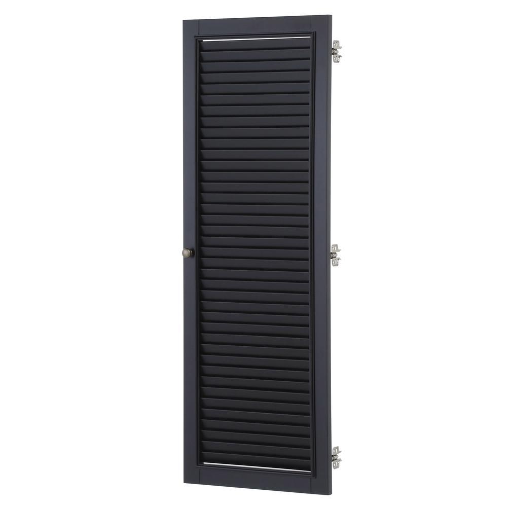 Shutter 43.5 in. H x 15.5 in. W Modular Right Locker Door in Worn Black