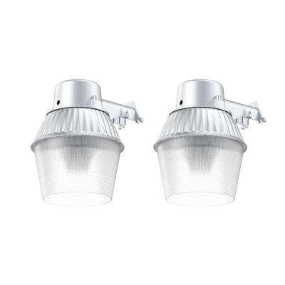 High-Performance 65-Watt Fluorescent Area Light and Flood Light, 2800 Lumens, Dusk to Dawn Outdoor Light (2-Pack)