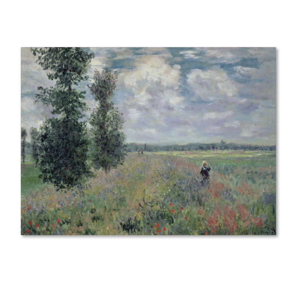 35 in. x 47 in. The Poppy Field Canvas Art