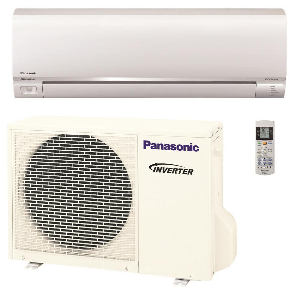 Panasonic 9,000 BTU 3/4 Ton Exterios Ductless Mini Split Air Conditioner  with Heat Pump - 208-230V/60Hz